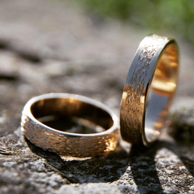 Alliince mariage or jaune
